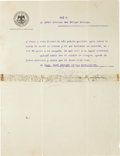 "Autographs:Non-American, Francisco ""Pancho"" Villa Typed Letter Signed..."