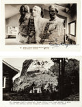 Autographs:Artists, [Mount Rushmore]. Gutzon Borglum: Two Postcards Signed....