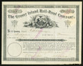 Miscellaneous:Other, Grassy Island Rail-Road Company 1 Share 1899.. ...