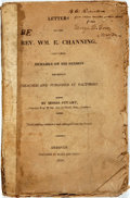 Books:Religion & Theology, [Anti-Slavery]. Moses Stuart. Letters to the Rev. Wm. E.Channing, Containing Remarks on his Sermon Recently Preachedan...