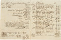Autographs:Military Figures, [Benedict Arnold]. Captain Benedict Arnold III Account Sheet Signed...