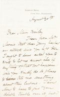 Autographs:Artists, William Morris Autograph Letter Signed....