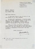 Autographs:Authors, J.R.R. Tolkien Typed Letter Signed....