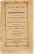 Books:Religion & Theology, Porter, Eliphalet: A SERMON, DELIVERED TO THE FIRST RELIGIOUS SOCIETY IN ROXBURY, JUNE 16, 1799. OCCASIONED BY THE DEATH OF HI...