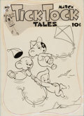 Original Comic Art:Covers, Tick Tock Tales #15 Cover Original Art (ME, 1947)....(Total: 2 Items)