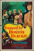 "Movie Posters:Mystery, Trapped by Boston Blackie (Columbia, 1948). One Sheet (27"" X 41"").Mystery.. ..."