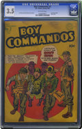 Golden Age (1938-1955):War, Boy Commandos #2 (DC, 1943) CGC VG- 3.5 Off-white pages. Hitlercover. Simon and Kirby cover and art. Overstreet 2006 VG 4.0...