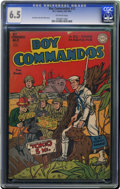 Golden Age (1938-1955):War, Boy Commandos #12 (DC, 1945) CGC FN+ 6.5 Off-white pages. World WarII cover. Overstreet 2006 FN 6.0 value = $120; VF 8.0 va...