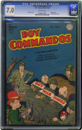 Golden Age (1938-1955):War, Boy Commandos #13 (DC, 1945) CGC FN/VF 7.0 Off-white pages. LastWorld War II cover in this series. Overstreet 2006 FN 6.0 v...