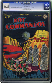 Boy Commandos #20 (DC, 1947) CGC FN+ 6.5 Off-white pages. Outer space cover by Curt Swan. Overstreet 2006 FN 6.0 value =...