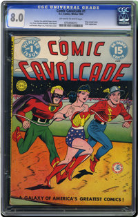 Comic Cavalcade #1 (DC, 1942) CGC VF 8.0 Off-white to white pages. This newly-slabbed original-owner copy has taken over...