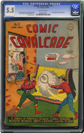 Golden Age (1938-1955):Superhero, Comic Cavalcade #15 (DC, 1946) CGC FN- 5.5 Off-white pages. First appearance of Johnny Peril (not referred to by name). Wond...
