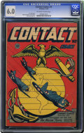 Golden Age (1938-1955):War, Contact Comics #9 (Aviation Press, 1945) CGC FN 6.0 Off-white to white pages. If this L. B. Cole cover doesn't look familiar...