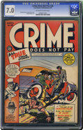 Golden Age (1938-1955):Crime, Crime Does Not Pay #26 (Lev Gleason, 1943) CGC FN/VF 7.0 Off-white to white pages. A mere two copies of this issue have been...