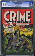 Golden Age (1938-1955):Crime, Crime Does Not Pay #29 (Lev Gleason, 1943) CGC VF+ 8.5 Off-white to white pages. This is the only high-grade copy of this is...