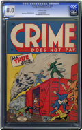 Golden Age (1938-1955):Crime, Crime Does Not Pay #37 (Lev Gleason, 1945) CGC VF 8.0 Off-white pages. Charles Biro cover. Rudy Palais and Dick Briefer art....