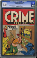 Golden Age (1938-1955):Crime, Crime Does Not Pay #38 (Lev Gleason, 1945) CGC VF/NM 9.0 Off-white pages. The lawbreakers featured in this series almost ine...