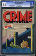 Golden Age (1938-1955):Crime, Crime Does Not Pay #39 (Lev Gleason, 1945) CGC VF+ 8.5 Off-white to white pages. Charles Biro cover. Rudy Palais and Dick Br...
