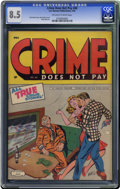 Golden Age (1938-1955):Crime, Crime Does Not Pay #40 (Lev Gleason, 1945) CGC VF+ 8.5 Off-white to white pages. In case you can't make it out on our catalo...