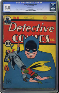 Detective Comics #42 (DC, 1940) CGC GD/VG 3.0 Off-white pages. Only a couple of high-grade copies of this issue are know...