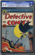 Golden Age (1938-1955):Superhero, Detective Comics #43 (DC, 1940) CGC FN- 5.5 Off-white pages. This is an early outing for Robin, who of course first appeared...