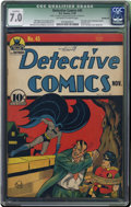 Golden Age (1938-1955):Superhero, Detective Comics #45 (DC, 1940) CGC Qualified FN/VF 7.0 Off-white to white pages. First Joker story in Detective Comics....
