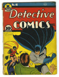 Golden Age (1938-1955):Superhero, Detective Comics #46 (DC, 1940) Condition: GD+. Death of Hugo Strange. Bob Kane, Jerry Robinson, and George Roussos cover an...