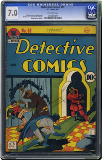 Detective Comics #52 (DC, 1941) CGC FN/VF 7.0 Off-white pages. This is the nicest copy of this issue we've ever offered...