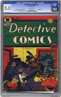 Golden Age (1938-1955):Superhero, Detective Comics #57 (DC, 1941) CGC FN- 5.5 Off-white pages. Bob Kane is credited with the cover and interior art on his cre...