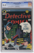 Golden Age (1938-1955):Superhero, Detective Comics #61 (DC, 1942) CGC VF 8.0 Off-white to white pages. The first cover appearance of the Batplane is on this b...
