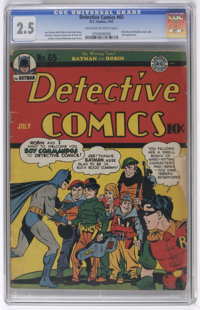 Detective Comics #65 (DC, 1942) CGC GD+ 2.5 Off-white to white pages. First cover appearance of the Boy Commandos (secon...