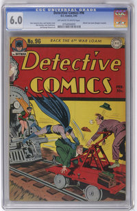 Detective Comics #96 (DC, 1945) CGC FN 6.0 Off-white to white pages. Jack Burnley cover. Dick Sprang art. Overstreet 200...