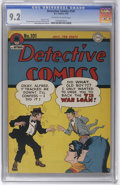 Golden Age (1938-1955):Superhero, Detective Comics #101 (DC, 1945) CGC NM- 9.2 Off-white to white pages. One of the finest specimens of this Detective run...