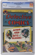 Golden Age (1938-1955):Superhero, Detective Comics #104 (DC, 1945) CGC NM- 9.2 White pages. This original-owner copy is tied for the highest grade CGC has ass...
