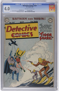 Detective Comics #147 (DC, 1949) CGC VG 4.0 Off-white to white pages. Dick Sprang cover and art. Overstreet 2006 VG 4.0...