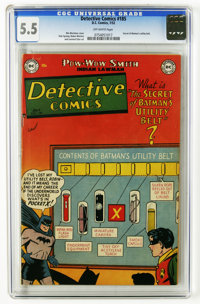 Detective Comics #185 (DC, 1952) CGC FN- 5.5 Off-white pages. Batman loses his utility belt. Win Mortimer cover. Dick Sp...
