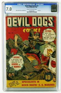 Devil Dogs #1 (Street & Smith, 1942) CGC FN/VF 7.0 Cream to off-white pages. Only issue of the title. U. S. Rangers...