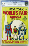 Golden Age (1938-1955):Superhero, New York World's Fair Comics 1940 (DC, 1940) CGC FN- 5.5 Off-white pages. After the ill-fated attempt to charge a whopping 2...