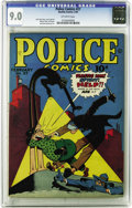 Golden Age (1938-1955):Crime, Police Comics #27 (Quality, 1944) CGC VF/NM 9.0 Off-white pages. This is the nicest copy we've seen of this issue, and no co...