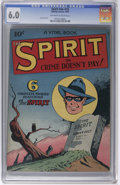 Golden Age (1938-1955):Crime, The Spirit #nn (#2) (Quality, 1945) CGC FN 6.0 Off-white to white pages. Lou Fine cover. Overstreet 2006 FN 6.0 value = $135...