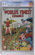 """World's Finest Comics #11 (DC, 1943) CGC VF+ 8.5 Off-white to white pages. If the term """"Victory Garden"""" doesn'..."""