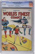 Golden Age (1938-1955):Superhero, World's Finest Comics #18 (DC, 1945) CGC VF/NM 9.0 Off-white to white pages. Here's one of the (world's) finest known copies...