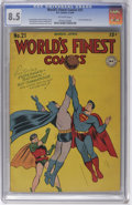 Golden Age (1938-1955):Superhero, World's Finest Comics #21 (DC, 1946) CGC VF+ 8.5 Off-white pages. We firmly believe that nothing's impossible, but... tr...