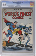 Golden Age (1938-1955):Superhero, World's Finest Comics #38 (DC, 1949) CGC VF 8.0 White pages. This special collection is particularly strong when it comes to...