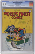 Golden Age (1938-1955):Superhero, World's Finest Comics #43 (DC, 1949) CGC VF+ 8.5 Off-white to white pages. A mere four copies of this issue have been certif...