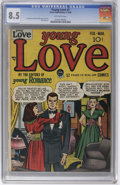 Golden Age (1938-1955):Romance, Young Love #1 (Prize, 1949) CGC VF+ 8.5 Off-white pages. What atreat it is to finally see the first issue of this title -- ...