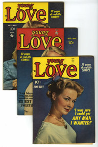 Young Love #3-7 Group (Crestwood/Headline, 1949-50) Condition: FN/VF. Combine Simon and Kirby interior art with fantasti...