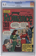 Golden Age (1938-1955):Romance, Young Romance Comics #9 (Prize, 1949) CGC VF+ 8.5 Off-white pages.Simon and Kirby cover. Interior artists include Simon and...