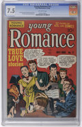Golden Age (1938-1955):Romance, Young Romance Comics #11 (Prize, 1949) CGC VF- 7.5 Off-white pages.Simon and Kirby cover and art. Also known as V2#5. Overs...