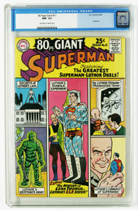 80 Page Giant #11 Superman (DC, 1965) CGC NM- 9.2 Off-white to white pages. All-Lex Luthor issue. Curt Swan cover. Swan...